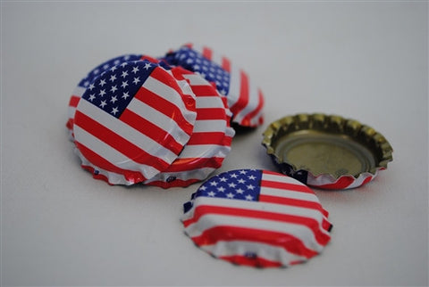 Crown Caps - American Flag - 144 Count