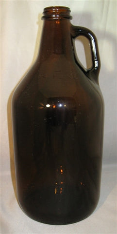 1/2 Gallon Glass Jug Amber - 64 Ounce