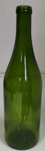 750ml Antique Green Punted Burgundy Bottle