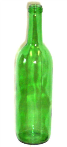 750ml Champagne Green Bordeaux Flat Bottom