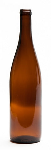 750ml California Amber Hock Wine Bottle