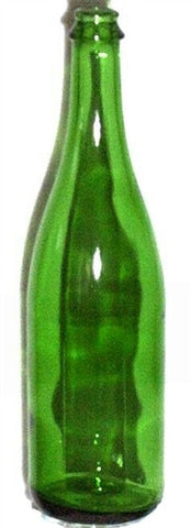 750ml Green Champagne Vineyard Bottle