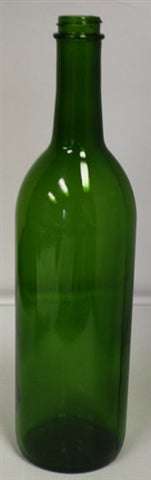 750ml Screw Top Green Claret Bottle