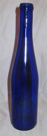 375mL Cobalt Blue Stretch Hock Bottle - Cork Finish