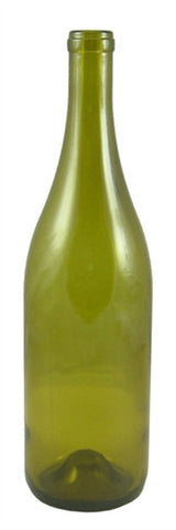 750ml Antique Green Burgundy Style Bottle Punted