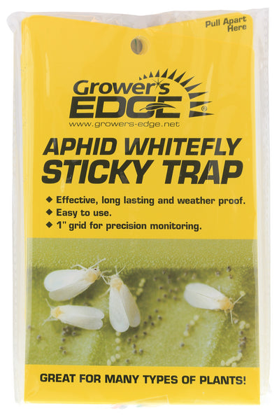 Sticky Aphid Whitefly Traps, Yellow, 5 Pack