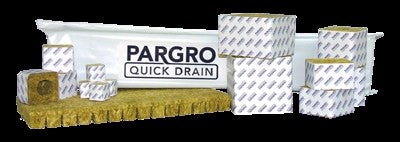 Grodan Pargro QD 3in Block (192) 3in x 3in x 2.5in w/ Hole - 1 Sleeve(8 Blocks)