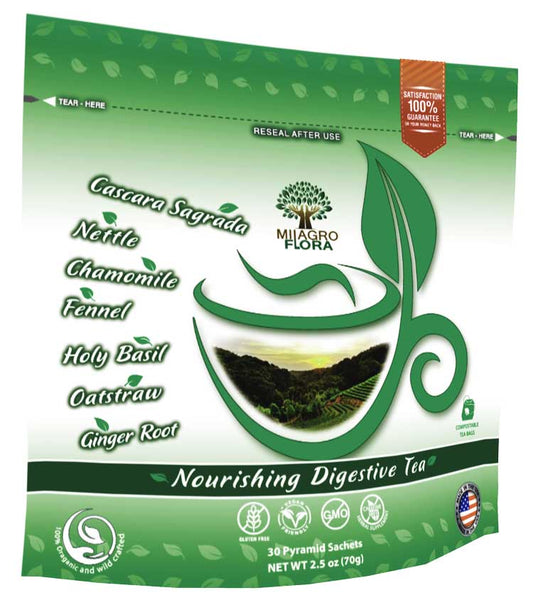 Organic Nourishing Digestive Tea to relief constipation, bloating, indigestion or gas