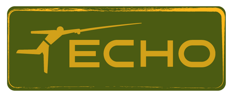 ECHO Rectangle Sticker - Green