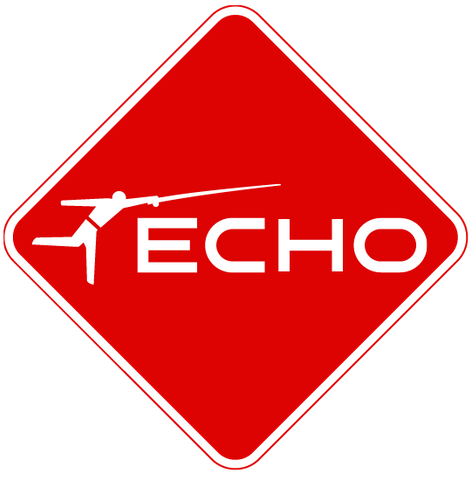 ECHO Sign Sticker - Red
