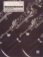 40 Studies for Clarinet - Book One - Cyrille Rose - Edited by Donald E. McCathren