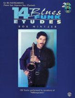 15 Easy Jazz/Blues/Funk Etudes - Eb Instruments - With CD - Mintzer - H & H Music