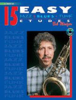 15 Easy Jazz/Blues/Funk Etudes - Bb Tenor Sax - With CD - Mintzer - H & H Music
