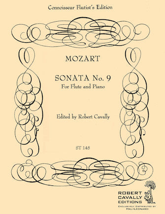 Sonata No. 9 for Flute and Piano - Mozart/Cavally