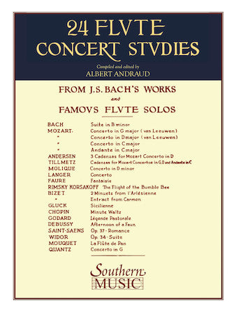 24 Flute Concert Studies from J. S. Bach Works