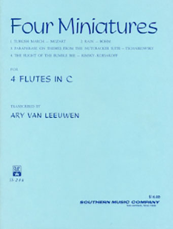 Four Miniatures for 4 Flutes in C - Various Composers/Transcribed by Leeuwen