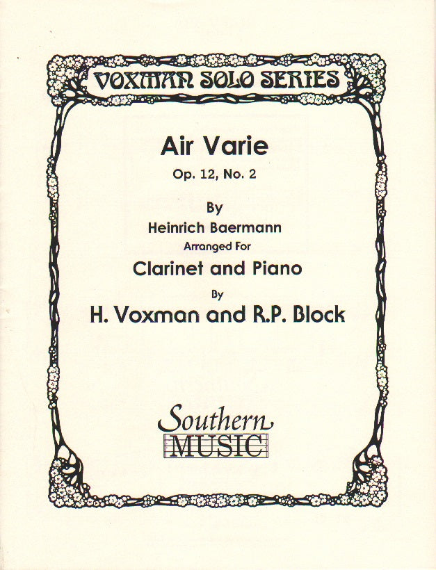 Air Varié No. 2 - Baermann/Voxman/Block