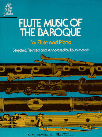 Flute Music of the Baroque for Flute and Piano - Moyse
