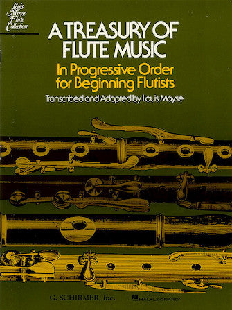 A Treasury of Flute Music - In Progressive Order for Beginning Flutists - Moyse