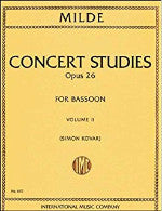 Concert Studies - Opus 26 - For Bassoon - Volume II - Milde/Kovar - H & H Music