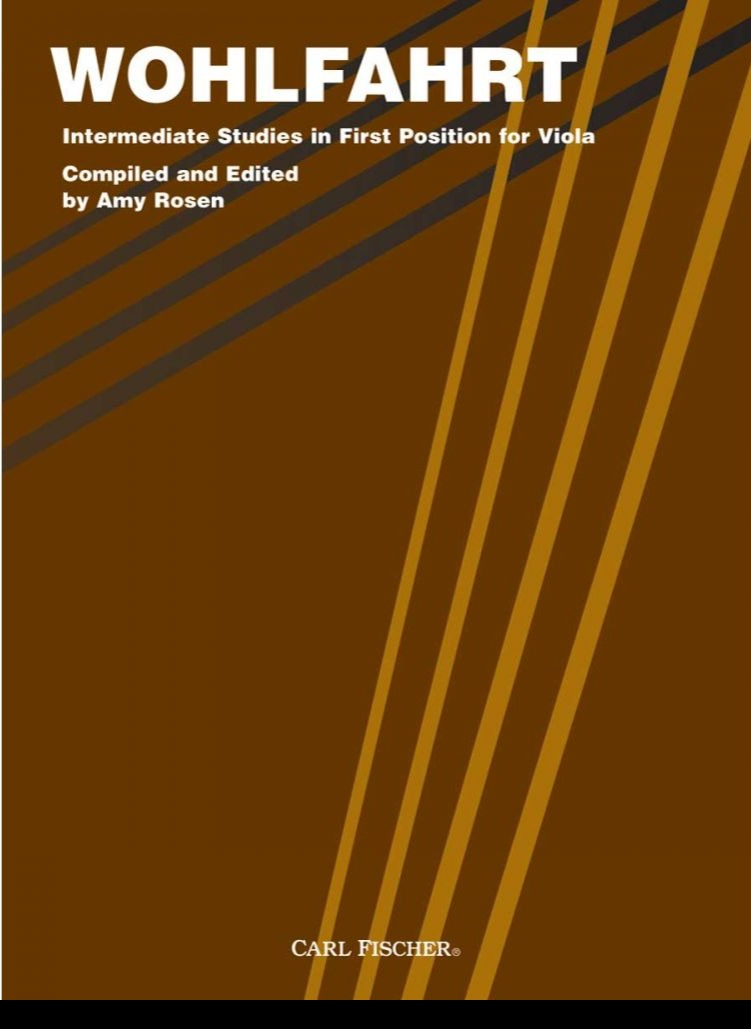 Intermediate Studies in First Position for Viola - Wohlfahrt - Compiled and Edited by Rosen
