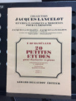 20 Small Studies for Clarinet and Piano - F. Burgmuller - Jacques Lancelot's Collection - Classic and Modern Works for Clarinet