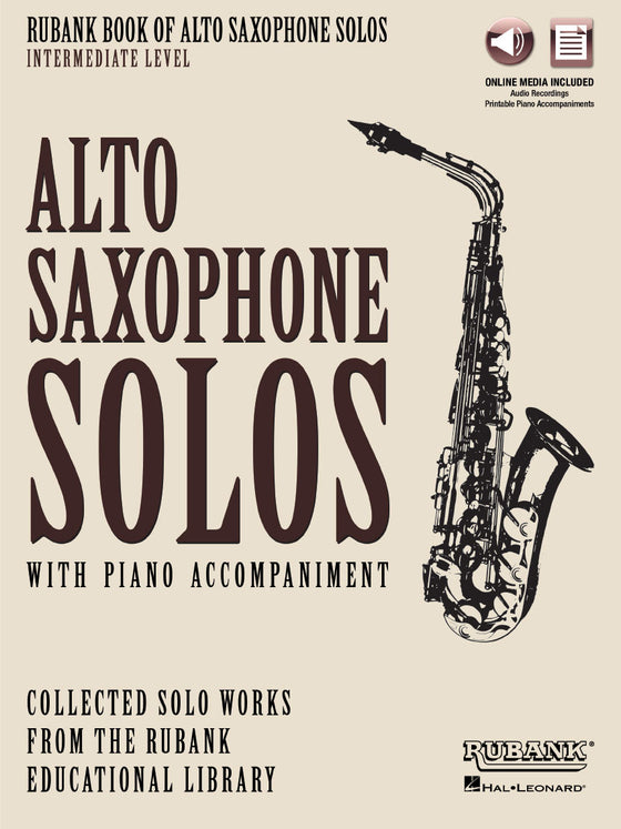Alto Saxophone Solos with Piano Accompaniment - Intermediate - Rubank