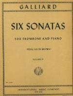 Six Sonatas for Trombone and Piano - Volume II - Galliard/Brown