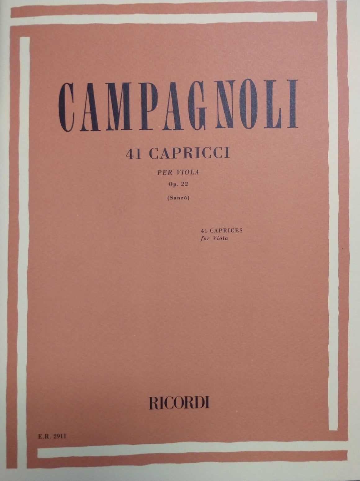 41 Caprices for Viola, Op. 22 - Campagnoli