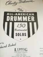 The All-American Drummer - 150 Rudimental Solos - Wilcoxon/Edited by Sakal