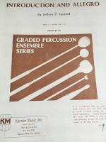 Introduction and Allegro - Grade 6 - Percussion Duet - Funnell