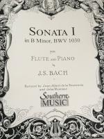 Sonata I in B Minor, BWV 1030 for Flute and Piano - J. S. Bach