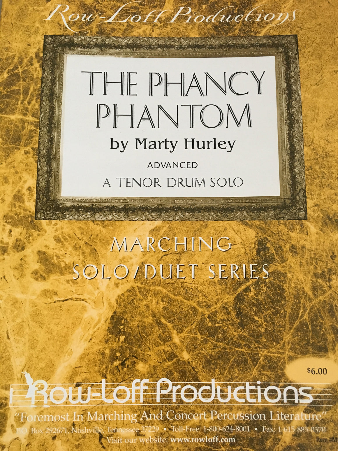 The Phancy Phantom - Advanced - Tenor Drum Solo - Hurley