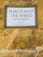Phantom of the Phield - Advanced - Tenor Drum Solo - Hansen