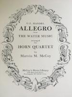 Allegro from the Water Music - Horn Quartet - Handel/Arranged by McCoy