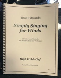 Simply Singing for Winds - Brad Edwards