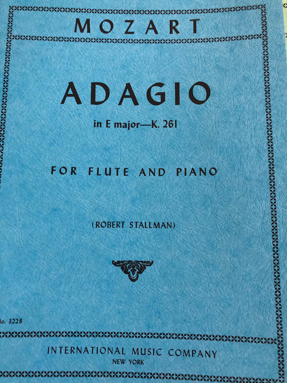 Adagio in E Major - K. 261 - Mozart/Stallman