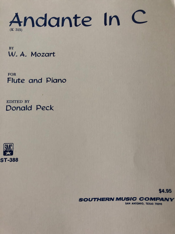 Andante in C (K. 315) - Mozart/Edited by Peck