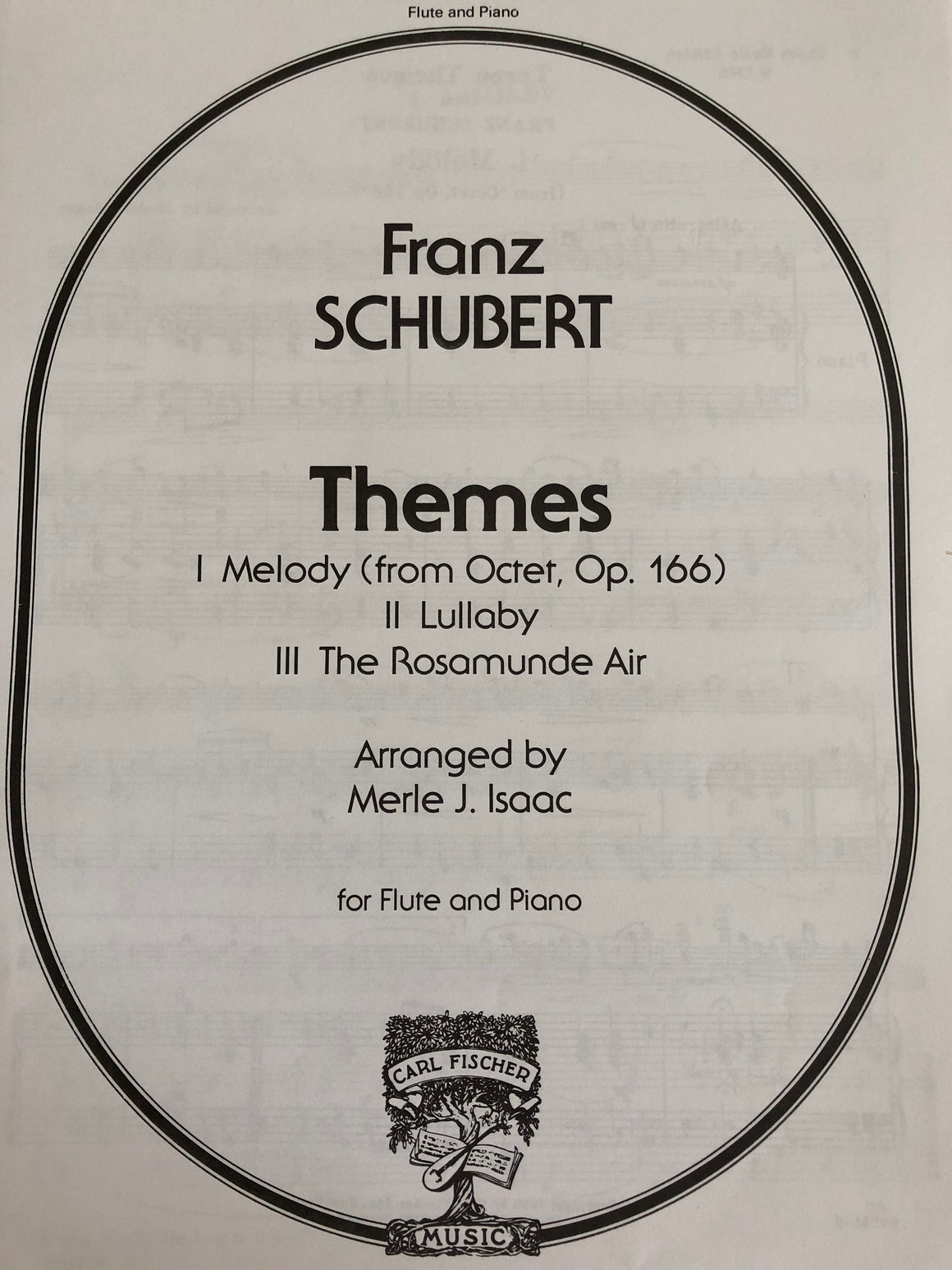 Themes (I. Melody, II. Lullaby, III. The Rosamunde Air) - Schubert/Arr. by Isaac