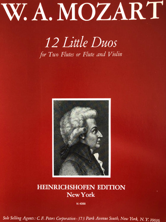 12 Little Duos for Two Flutes or Flute and Violin - Mozart