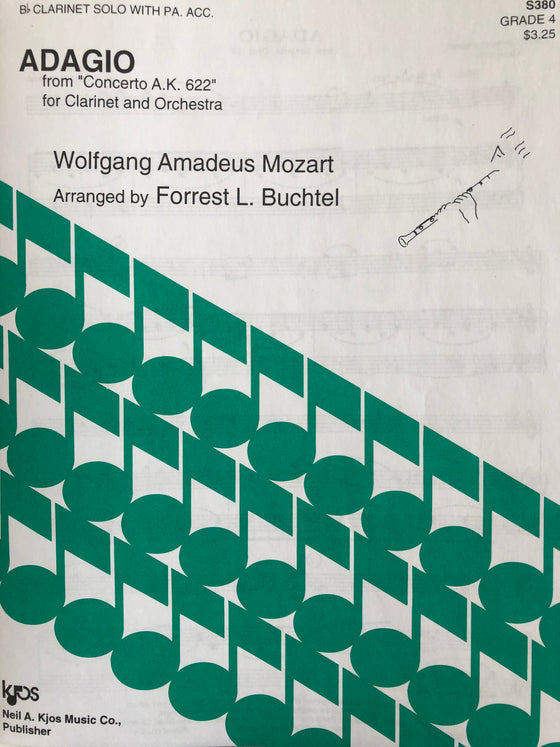 "Adagio from ""Concerto A.K. 622"" for Clarinet and Orchestra - Mozart/Buchtel"
