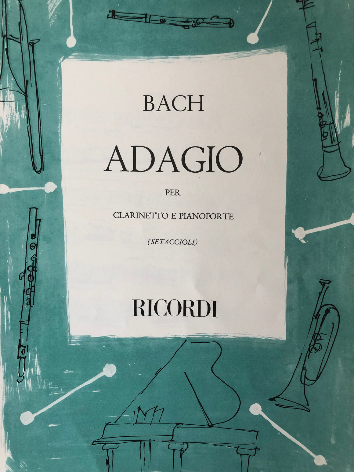 Adagio from Sonata III for Organ - Clarinet and Piano - Bach/Setaccioli