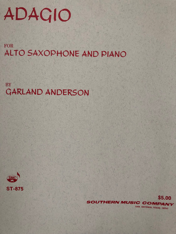 Adagio for Alto Saxophone and Piano - Anderson