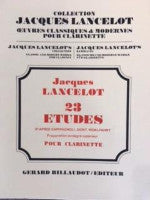 23 Studies for Clarinet - Jacques Lancelot's Collection - Classic and Modern Works for Clarinet - Lancelot/Edited by Billaudot