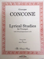 Lyrical Studies for Trumpet - With CD Accompaniment in Bb - Concone/Transcribed by Sawyer - H & H Music