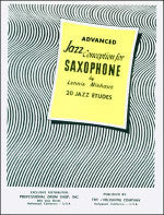 Advanced  Jazz Conception for Saxophone - 20 Jazz Etudes - Includes Play-Along CD - Niehaus - H & H Music