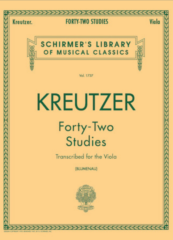 42 Studies Transcribed for the Viola - Kreutzer