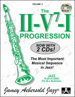 The II-V7-I Progression - Volume 3 - Jazz Play-Along - With 2 CDs - Jamey Aebersold