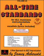 All-Time Standards - Volume 25 - Play-Along - With 2 CDs - Jamey Aebersold