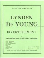 Divertissement for Thirteen-Part Brass Choir with Percussion - De Young